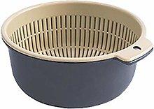 Plastic Double Layer Drain Basket Kitchen Bowl