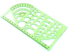 Plastic Drafting Drawing Tool Ruler,Geometric