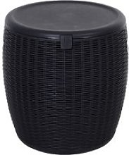 Plastic Drink Cooler Can w/ Lid Drainage Hole