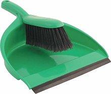 Plastic Dustpan & Stiff Brush Set Green - Cotswold