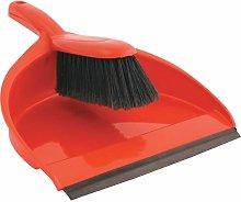 Plastic Dustpan & Stiff Brush Set Red - Cotswold