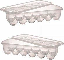 Plastic Egg Holder - Egg Tray for Refrigerator (2