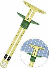 Plastic Five-in-one Patchwork Ruler,Sliding Gauge