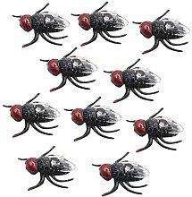 Plastic Flies Toy Fake Fly Bugs Fake Plastic