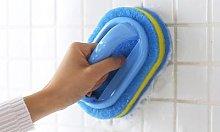 Plastic Handheld Sponge Cleaning Brush: Three