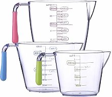 Plastic Measuring Cups Set 3 Piece, BPA Free