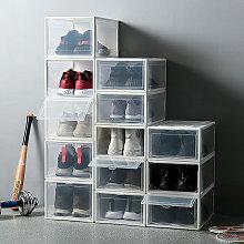 Plastic Shoe Storage Box, Clear Case, Stackable