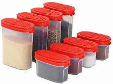 Plastic Spice Containers – Spice Jar Set 8 Pack,