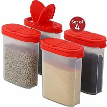 Plastic Spice Containers – Spice Jar Set of 4