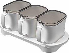 Plastic Spice Jar With Handle Flip Seasoning Box
