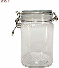 Plastic Square Clip Top Storage Jar with Airtight