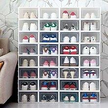 Plastic Stackable Shoe Storage Rack, Foldable Shoe