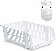 Plastic Strong Stackable Large White, 32 x 43 x