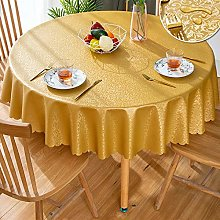 Plastic tablecloth   Golden Round flower table