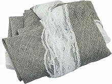 Plastic Tablecloth Imitation Cotton Linen Retro