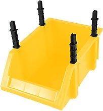 Plastic Yellow Component Screw Stackable Storage