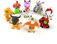 PLASTIFIC 9pcs Anime Figure Model Toy,Digimon
