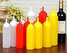 Plate Dish Tableware 4Pcs Plastic Sauce Bottle