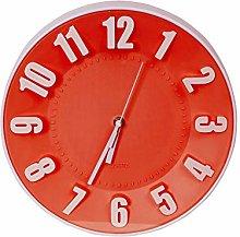 Platinet PZTRC Red Plastic Wall Clock, 30.5 x 30.5