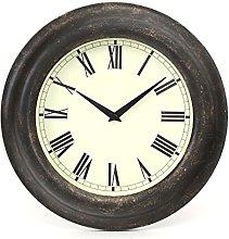 Platinet Wall Clock-Glow, Beige with Black Frame,