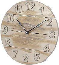 Platinet Wall Clock May, Wooden Brown, 29.5 x 29.5