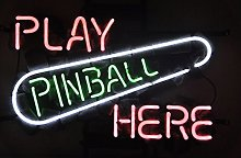 Play Pinball Here Real Glass Neon Light Sign Home