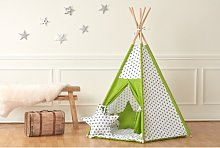 Play Tent KraftKids Colour: Green, Finish: With