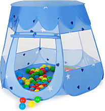 Play tent with 100 balls for kids - blue