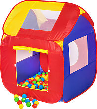 Play tent with 200 balls pop up tent - colorful