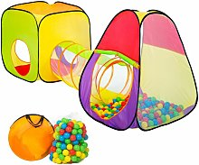 Play tent with tunnel + 200 balls pop up tent -