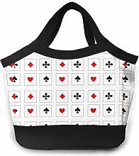 Playing Cards Black Lunch Bag Tote BagLeakproof