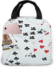 Playing Cards Game Room75 Portable Insulated Lunch