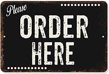 Please Order Here Sign Dark Restaurant Signs