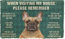 Please Remember 3D French Bulldog Dog House Rules