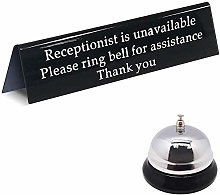 Please Ring Bell Sign for Service Assistance And
