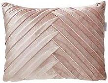Pleated Velvet Boudoir Cushion In Pink