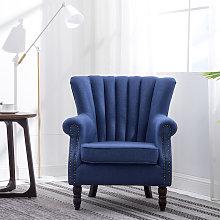 Pleated Wingback Armchair Tub Chair Single Sofa,