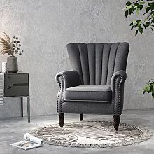 Pleated Wingback Armchair Tub Chair Single Sofa,
