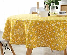 Plenmor Cotton Linen Table Cloth Round Tablecloth