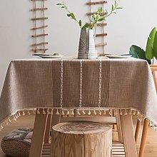 Plenmor Heavy Weight Cotton Linen Tablecloth