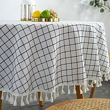 Plenmor Round Table Cloth Cotton Linen Tablecloth