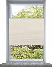 Plisse Blind 70x100cm Creme9341-Serial number