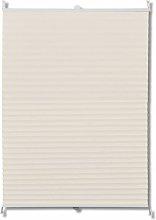 Plisse Blind Cream 110x150cm - Cream - Vidaxl