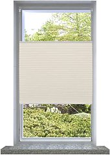 Plisse Blind Cream 40x125cm - Cream - Vidaxl