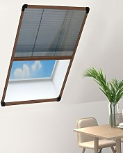 Plisse Insect Screen for Windows Aluminium Brown
