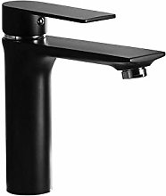 PLJHWW Black Basin Faucet hot and Cold Brass