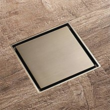 PLJHWW Copper Mirror Floor Drain, Odor-Proof,