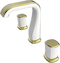 PLJHWW White undercounter Basin Full Copper Faucet
