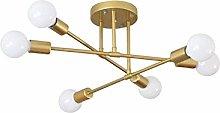 PLLP 6-Light Sputnik Chandelier,Modern Industrial