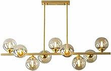 PLLP 7 Light Chandelier Lighting Fixtures Brass